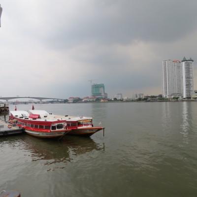 Boats on the Chao Phraya River, Bangkok